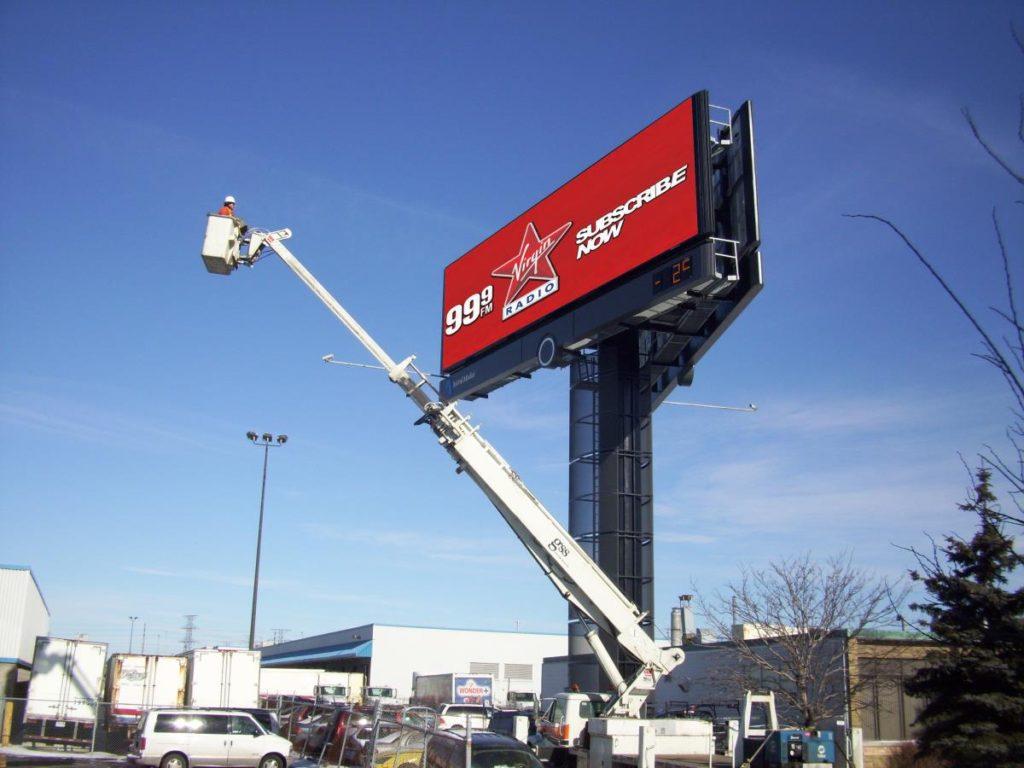 bucket truck install 1
